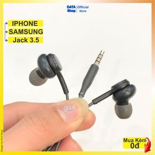 Tai nghe Super Bass chống ồn jack 3.5 mm - Tay nghe nhét tai bọc dù có mic nghe gọi chân tròn dùng cho samsung akg iphon