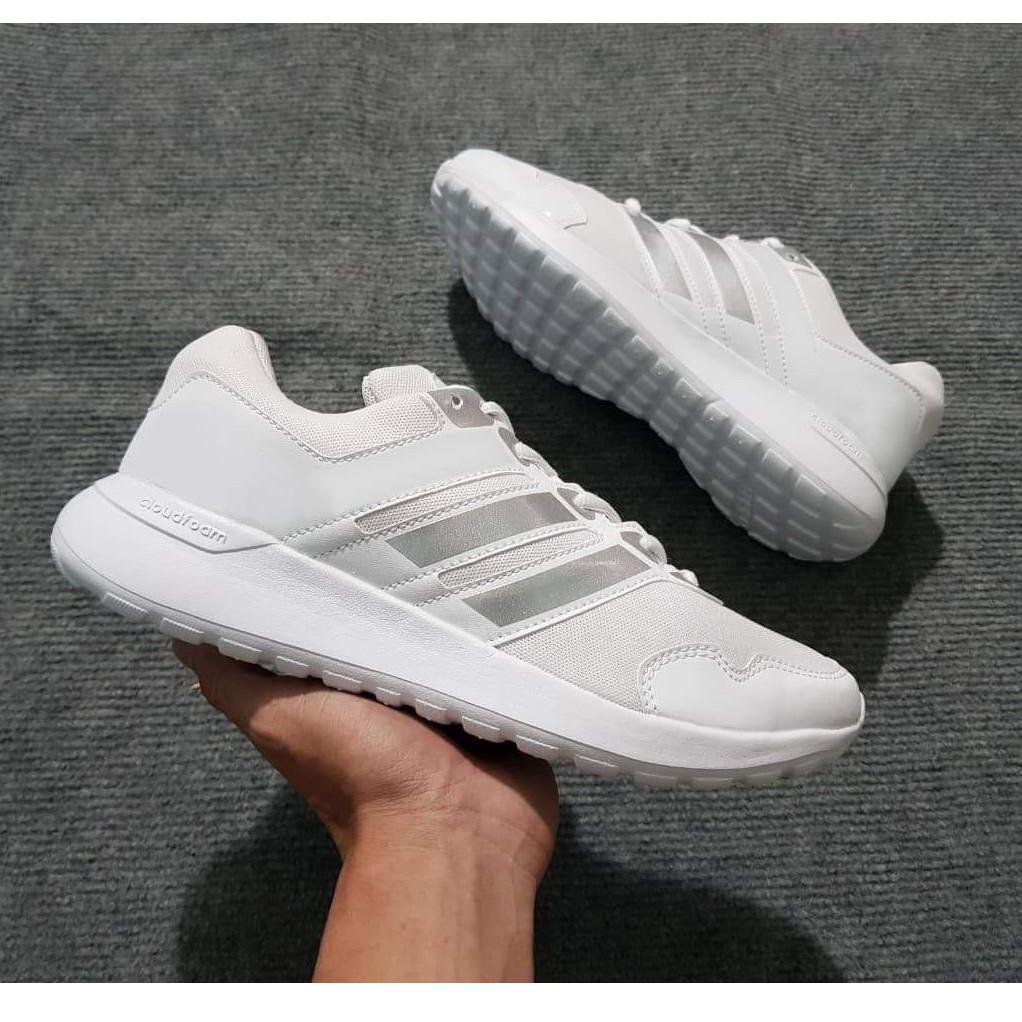 Giày Sneaker Nam Nữ Siêu Nhẹ (Trắng/Đen)