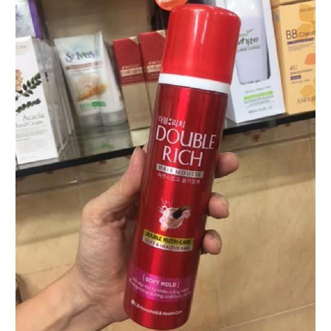 Mousse dưỡng tóc & giữ nếp tóc Double Rich Hair Mousse 150g