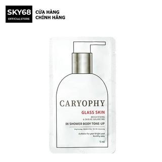 [Sample] Kem Dưỡng Ẩm Trắng Da 3 in 1 Glass skin in Shower Body Tone up Caryophy 5ml thumbnail