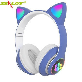 Zealot Tai Nghe Tai Mèo Bluetooth Không Dây Thời Trang, Với Đèn LED Mic Tai Nghe Nhạc HiFi thumbnail