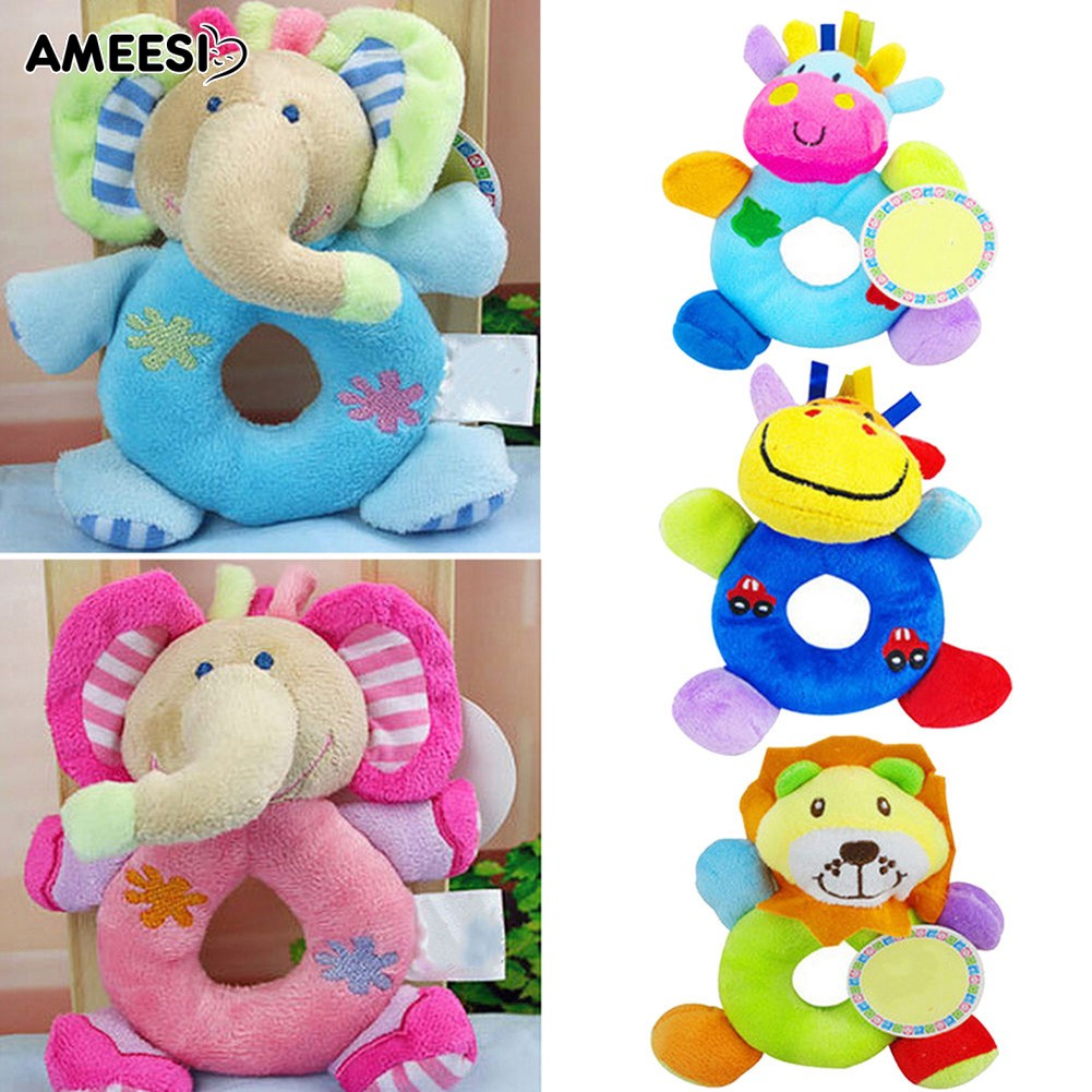 🔅🔆AMEESI  Baby Plush Stuffed Hand Bell Wrist Rattle Educational Toy