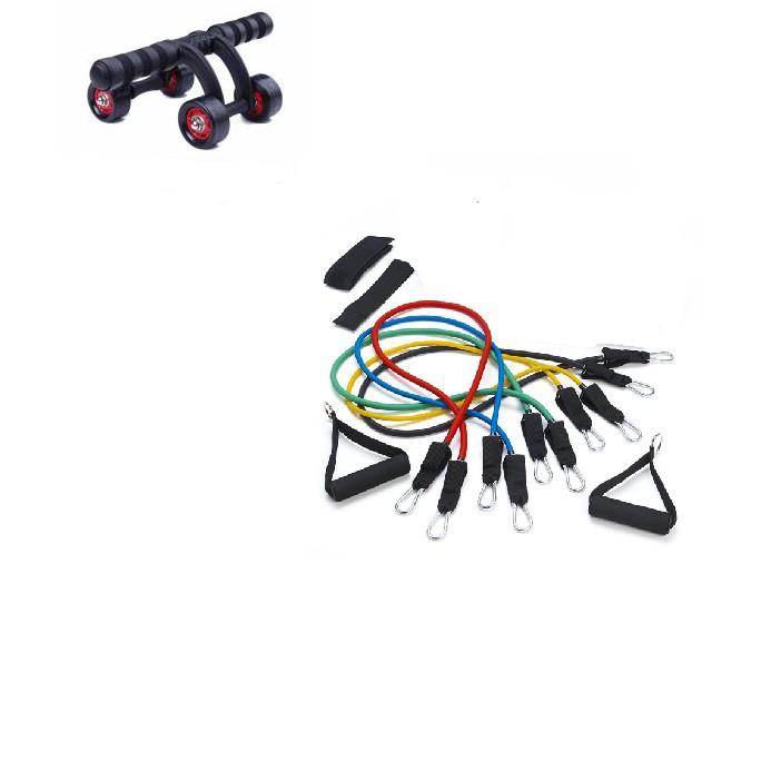 Bộ dụng cụ tập thể dục Con lăn 4 bánh tập cơ bụng + Bộ dây đàn hồi tập thể dục - 3551218 , 1191218535 , 322_1191218535 , 400000 , Bo-dung-cu-tap-the-duc-Con-lan-4-banh-tap-co-bung-Bo-day-dan-hoi-tap-the-duc-322_1191218535 , shopee.vn , Bộ dụng cụ tập thể dục Con lăn 4 bánh tập cơ bụng + Bộ dây đàn hồi tập thể dục