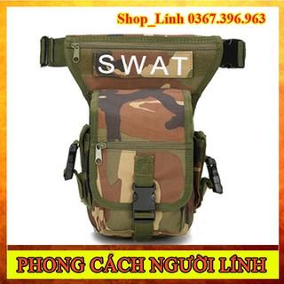 Túi Đeo Hông, Đeo Đùi SWAT Rằn Ri Chiến Thuật – Túi Đeo Nam Du Lịch Thể Thao Phong Cách Lính