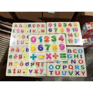 Bảng chữ Tiếng việt và số không núm