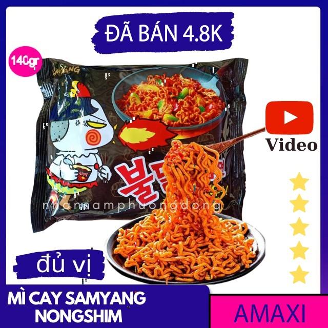 Mì cay Hàn Quốc, Mỳ cay Samyang, Nongshim Indomie 1 gói, Neoguri khô nước, topokki, tương đen