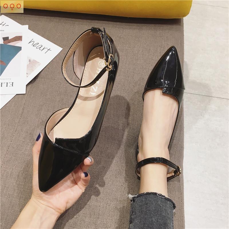 Giày Búp Bê Mũi Nhọn Thời Trang 2021 Cho Nữ