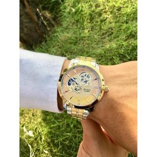 Đồng hồ cơ nam BYINO automatic dây thép không gỉ