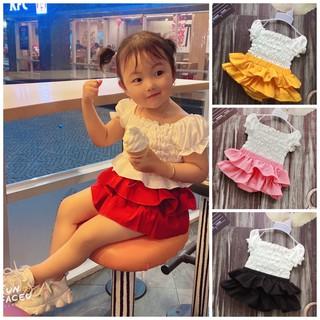 [ Xả Kho Giảm Sâu ] Set Đồ Cho Bé Quần Váy Nhún Bèo Áo Nhún Tiểu Thư Sành Điệu [ Có Ảnh Thật ] Minmi s Baby Kids SB019 thumbnail