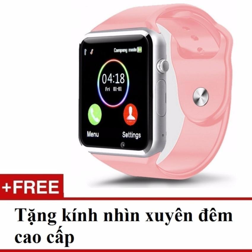Đồng hồ thông minh Smart Watch BMWA1 gắn sim độc lập (Hồng) + Tặng mắt kính nhìn xuyên đêm