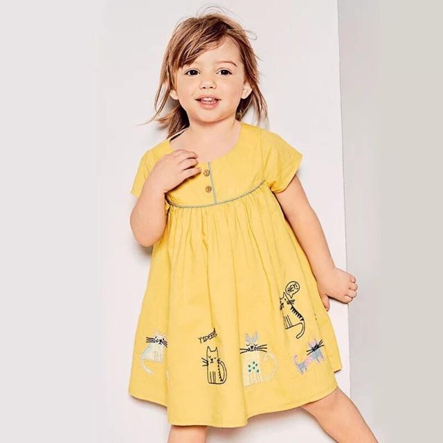 [ ẢNH, VIDEO THẬT] Váy jumping Beans vàng hoạ tiết bé gái