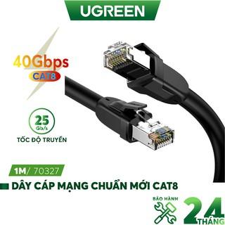 Dây cáp mạng chuẩn mới Cat 8 tốc độ truyền dữ liệu 2000MHZ và 25Gbps dài từ 1-10m UGREEN NW121