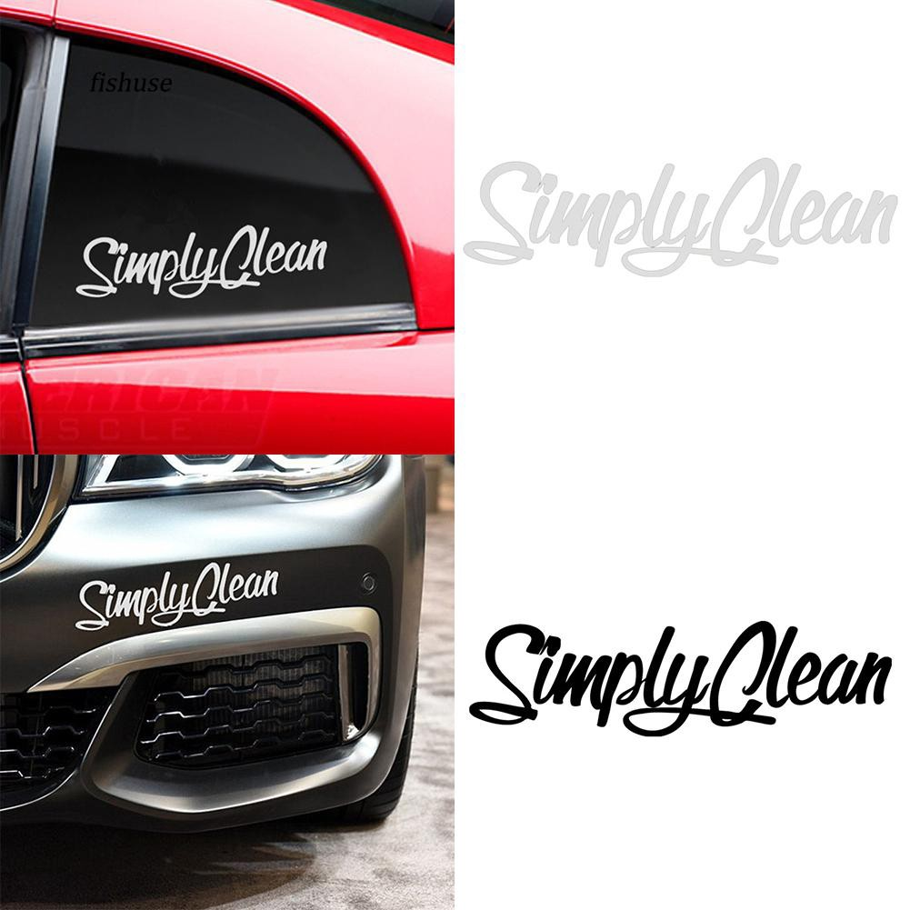 FHUE_Simply Clean Cool Car Truck SUV Laptop Reflective Sticker Decal DIY Decoration