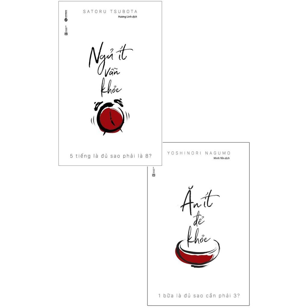 Sách - Combo Ăn Ít Để Khỏe + Ngủ Ít Vẫn Khỏe