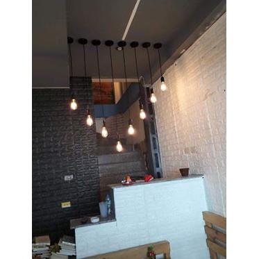 Dây đèn thả đơn đen - Dây đèn trang trí - Đèn thả trần - Đèn trang trí - Đèn cho shop - Đèn quán cafe