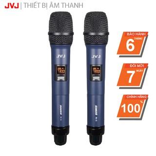Bộ 2 Microphone không dây W 15 JVJ đa năng cao cấp, tần số tương thích nhiều thiết bị amply- bảo hành 12T