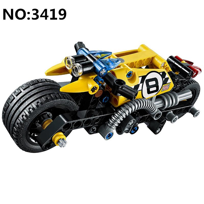 Stunt Bike Building Blocks Kids Technic Educational Toys Compatible with Lego Children Birthday Gift