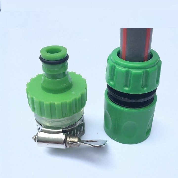 Combo 2 đầu cut nối nhanh ống nước mềm 14mm vào vòi nước thông dụng 21mm