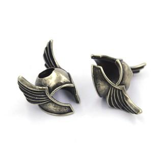[Bead – Paracord bracelet] Mũ giáp lính Viking – Winged Helmet (Màu vàng cổ)