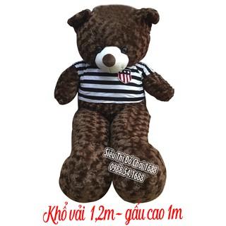 Gấu bông khổ vải 1,2m cao 1m Hàng VNXK