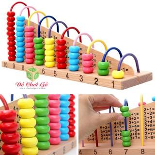 Đồ chơi gỗ tháp học toán tính đôi hãng S-Kids