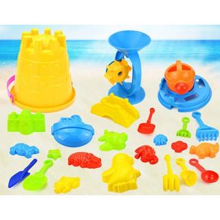 Đồ chơi xô xúc cát đi biển lớn 25 món (túi lưới)