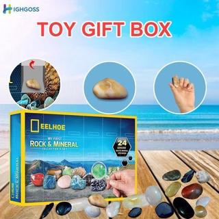 【ready】 Christmas Ore Gift Box Ore Christmas Advent Calendar Blue Gift Box Christmas Blind Box .