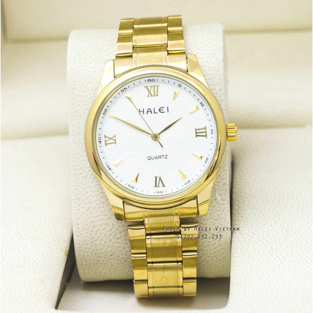 Đồng hồ nam HALEI 489 (vàng) chống nước dây thép gỉ - 3499207 , 1228022565 , 322_1228022565 , 250000 , Dong-ho-nam-HALEI-489-vang-chong-nuoc-day-thep-gi-322_1228022565 , shopee.vn , Đồng hồ nam HALEI 489 (vàng) chống nước dây thép gỉ