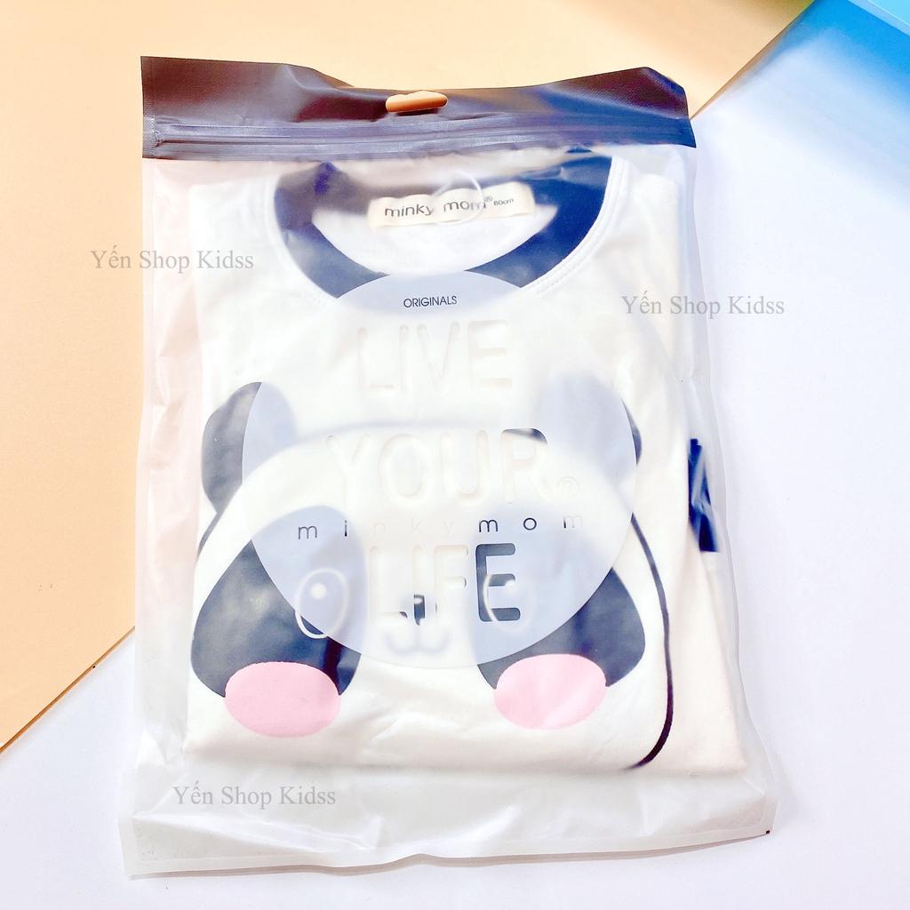 Bộ Dài Minky Mom Cotton 100 % In Họa Tiết Ếch Xanh-Sói Đỏ ( Sz 7-19kg) (SP001301)