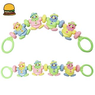 Infant Baby Hand-pull Rattle Cartoon Puzzle Cognitive Clown Rattle Early Education Parent-Child Toy