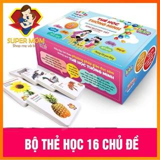 [BẢN FULL] Bộ Thẻ Học Song Ngữ thông minh BiBo 16 chủ đề – 416 thẻ tiếng anh tiếng việt cho bé phát triển trí não