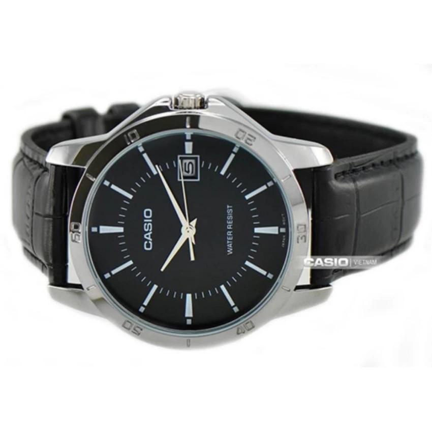 Đồng hồ nam dây da Casio chính hãng Anh Khuê MTP-V004L-1AUDF