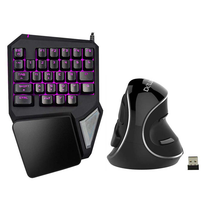 Delux T9 Pro Gaming keyboard Wired Professional Keyboard Single Hand Keypad Ergoexb9zp