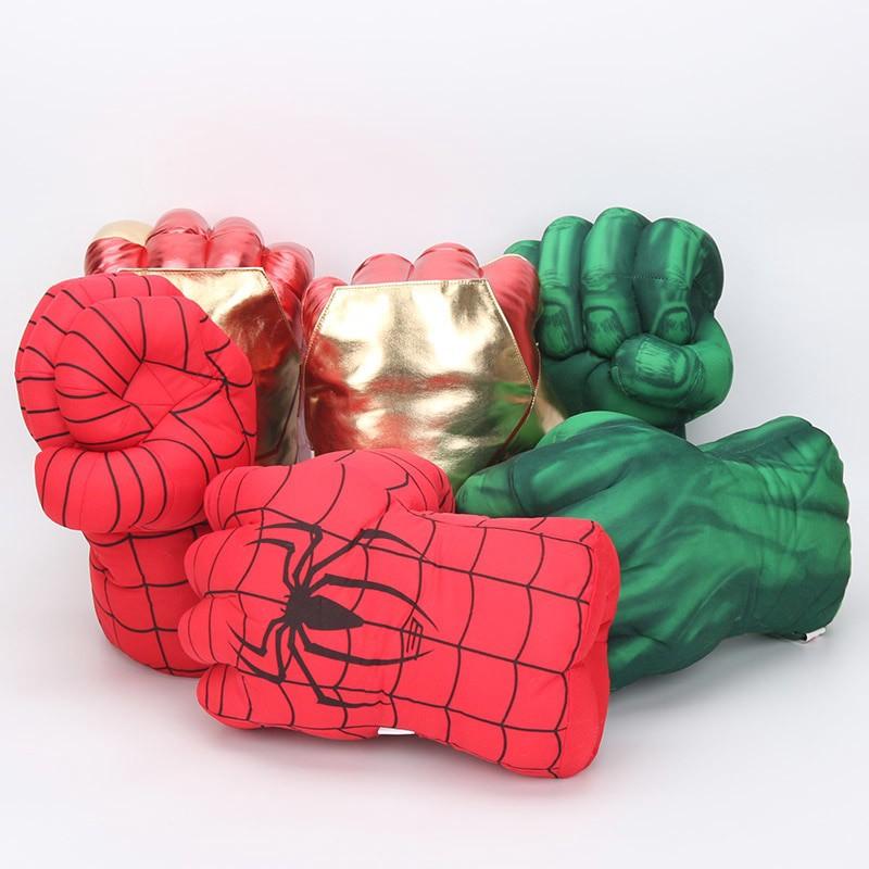 Găng tay nhồi bông hình siêu anh hùng Hulk Spiderman ngộ nghĩnh