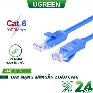 Dây mạng bấm sẵn 2 đầu Cat6 UTP Patch Cords UGREEN NW102 (xanh da trời) thumbnail