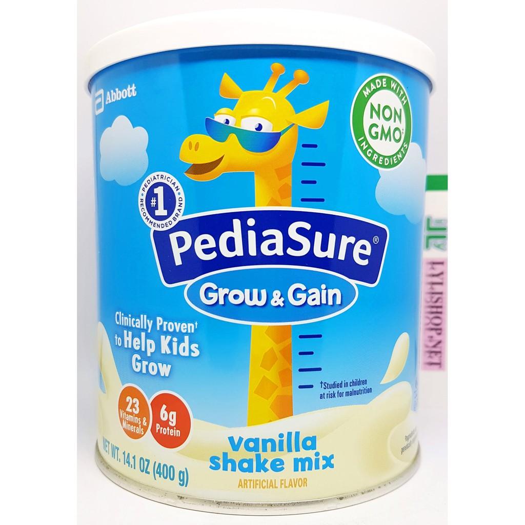 Sữa bột Pediasure Grow & Gain hương Vanilla hộp 400g cho bé từ 2 tuổi của Mỹ