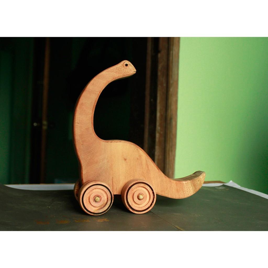 Đồ chơi gỗ phát triển trí tuệ Khủng Long Cổ Dài, Khung Long Đồ Chơi Bằng Gỗ
