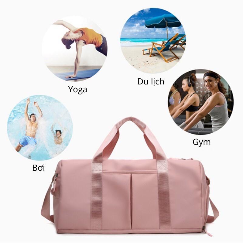 Túi du lịch gấp gọn, đựng đồ cá nhân nữ nam đi du lịch, đi tập gym, về quê, đi công tác, có ngăn đựng giày bằng vải size