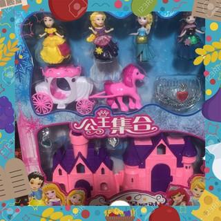 [Sale Giá Sốc] Đồ chơi lâu đài nhà búp bê công chúa kèm xe ngựa