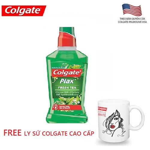 Nước súc miệng trà xanh Colgate Plax Fresh Tea 500ML - 8850006304952 - 3203075 , 424855069 , 322_424855069 , 85000 , Nuoc-suc-mieng-tra-xanh-Colgate-Plax-Fresh-Tea-500ML-8850006304952-322_424855069 , shopee.vn , Nước súc miệng trà xanh Colgate Plax Fresh Tea 500ML - 8850006304952
