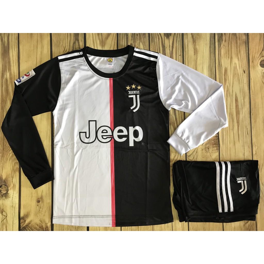 [ĐỒ IN] Quần áo bóng đá tay dài Juventus 19/20