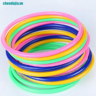 【chendujia】5Pcs 13.5CM Hoop Ring Toss Cast Circle Sets Educational Toy Kids Pu