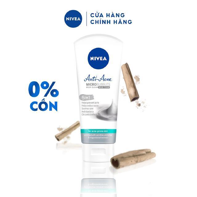 Sữa rửa mặt NIVEA Anti-Acne khoáng chất giúp ngừa mụn (100g) – 82327