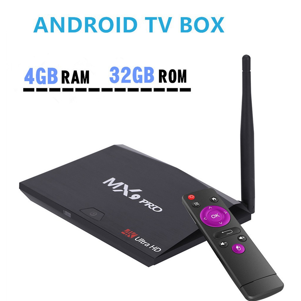 MX9 Pro 4GB RAM 32GB ROM Smart Android 7.1 TV Box RK3328 Quad Core