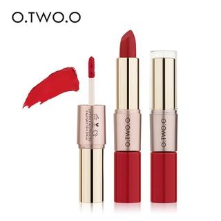 Son môi O.TWO.O 12 màu sắc tùy chọn trang điểm lâu trôi