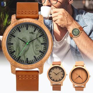 Đồng hồ đeo tay bằng gỗ cao cấp thời trang cho nam / nữ