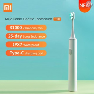 MI Xiaomi Mijia Sonic Electric Toothbrush T300 USB Rechargeable Tooth Brush Ultrasonic Waterproof Tooth Brush Gum Health Teeth Whiten Deep Clean