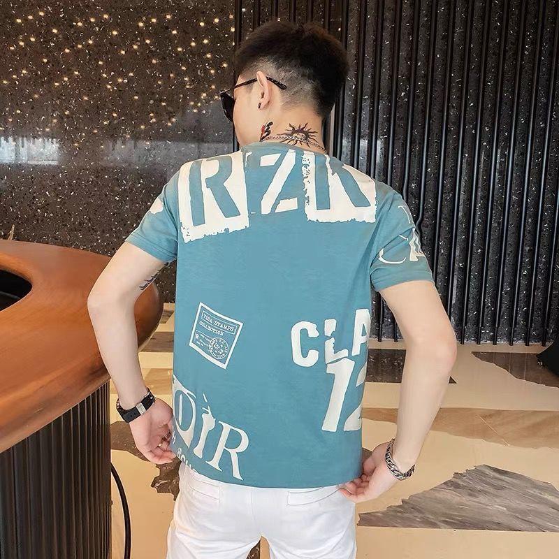 Áo Thun Cotton Tay Ngắn In Chữ Thời Trang Mùa Hè Mới Cho Nam