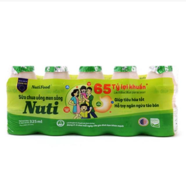 Sữa chua men sống Nuti Food 5 hũ*65ml