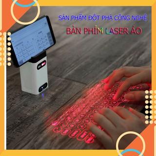 Bàn Phím Laser Ảo Kiêm Sạc Dự Phòng Đế Điện Thoại BPLA01 Màu Trắng Tiện Lợi Cho Người Hay Làm Việc Bên Ngoài Văn Phòng